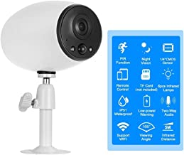 DCZ Security WiFi Outdoor Camera 1080P Waterproof Home Surveillance Bullet IP Camera with 2-Way Audio,IP66 Waterproof,IR N...