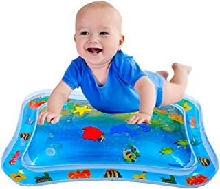 JUOIFIP Inflatable Tummy Time Premium Water Mat Infants & Toddlers, The Perfect Fun Time Play Activity Center Your Baby's Stimulation Growth ( 26