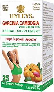 12 Pack - Hyleys Wellness Garcinia Cambogia Green Tea - 25 bagss (100% Natural, Sugar Free, Gluten Free and Non-GMO)