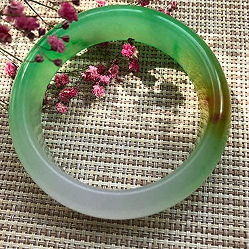 FEEE-ZC Brazalete de Jade para Mujer, Flores flotantes de cuarcita, Pulseras de Jade, Pulseras de Jade, Modelos Femeninos, artesanía de Jade