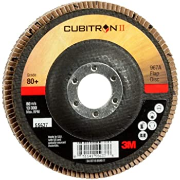 T29 4 x 5//8 00051141556185 Y-Weight 60+ Manufacturer Grade T29 4 x 5//8 Pack of 10 3M Cubitron II Flap Disc 967A