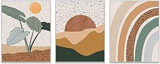 Mid Century Modern Wall Art Boho Decor - by Herzii Prints - Set Of 3 Boho Wall Decor Mid Century Modern Decor - Terracotta...