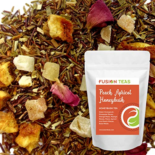 Peach Apricot - Loose Leaf Honeybush Herbal Tea - Fusion Teas 16oz Pouch