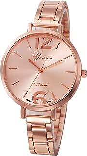 Triskye Women Analog Quartz Watches Business Casual Stainless Steel Strap Band Round Wrist Watch Fashion Design Bracelet Girls Ladies Alloy Dress Gift Wristwatch