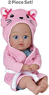 """Adora BathTime Baby Tot """"Kitty"""" Small 8.5 Inch Washable Bathtub Water Safe Soft Body Vinyl Fun Play Toy Doll for Boy or Girl Children and Toddlers 1 Year Old and up"""