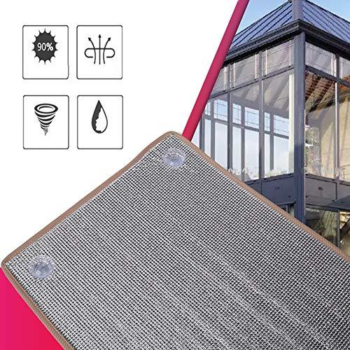 GDMING Libre-Perforado Balcón Ventosa LáminaAislamiento Pabellón Toldo Bloque Sol Y Calor Radiante Barrera Envolver por Impermeabilización Áticos, Garajes, Conductos De RV, 42 Tamaños