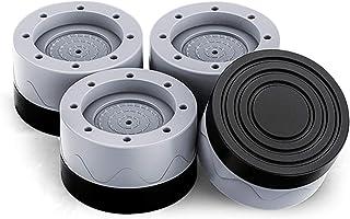 Patin Anti Vibration Machine à Laver 4PCS Universel Pieds Stabilisateur Piédestal pour Lave-Linge réfrigérateur accessoire...
