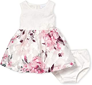 The Children's Place Baby Girls Pleated Lace Dress