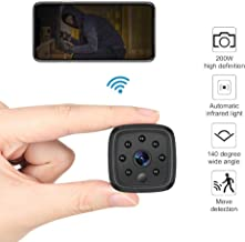 WiFi Camera,Ansteker 1080P Mini Portable Wireless WiFi Security Camera with IR Night Vision Motion Detection Nanny Cam Security Monitoring (Square)