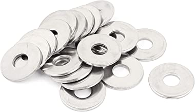 Uxcell a15111200ux1748 20pcs M8 304 Stainless Steel Flat Plain Washer Spacer Silver Tone (Pack of 20)