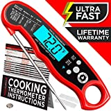 Alpha Grillers Instant Read Meat Thermometer for Grill and Cooking. Upgraded with Backlight and...