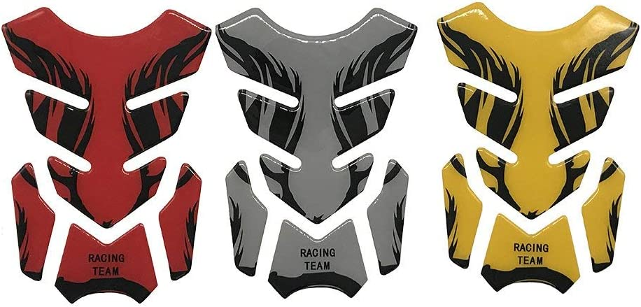 Silber Rot Gold 3d Motorrad Heizöl Tank Pad Aufkleber Schutzfolie Aufkleber Universal Für Honda Yamaha Kawasaki Suzuki Baumarkt