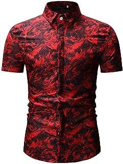 Xmiral Camicia da Uomo Camicia Slim Fit Camicia da Uomo #645