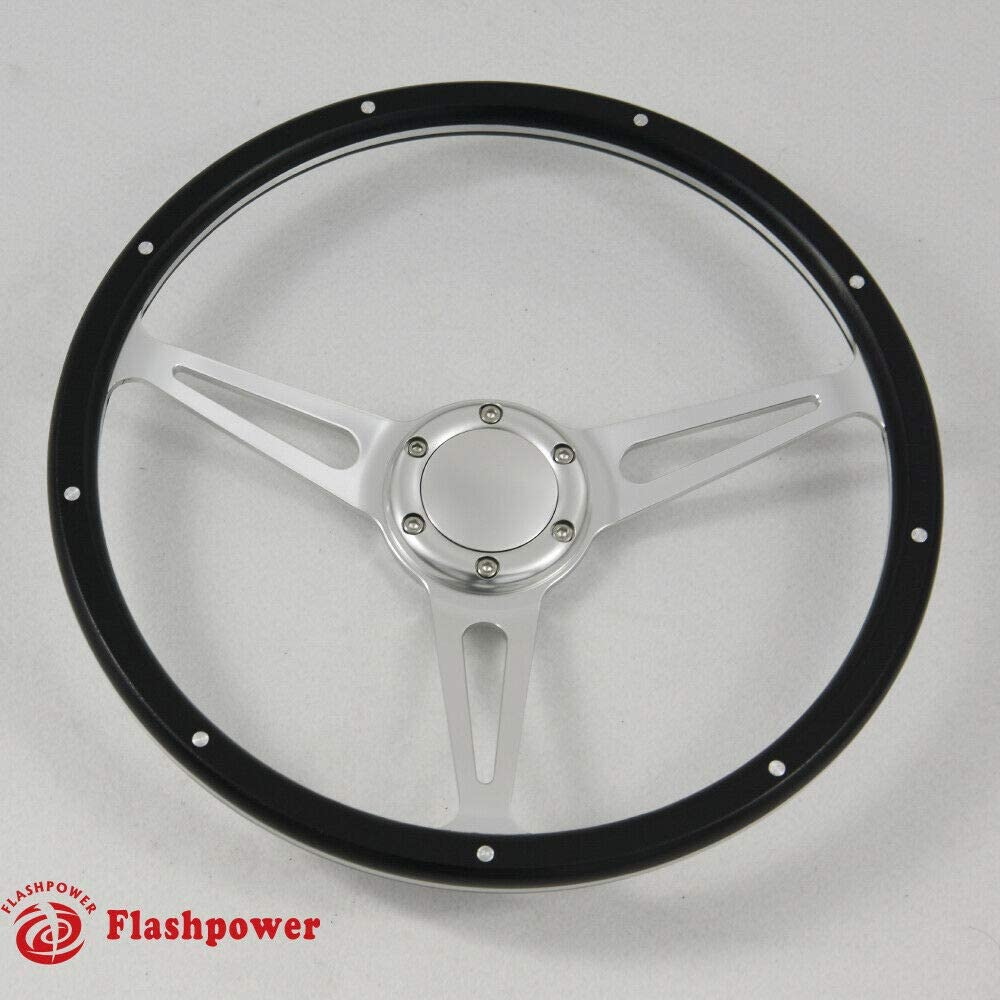 14'' Laminated Black Forest Sales Wood Horn Button Steering Wheel with Limited Special Price