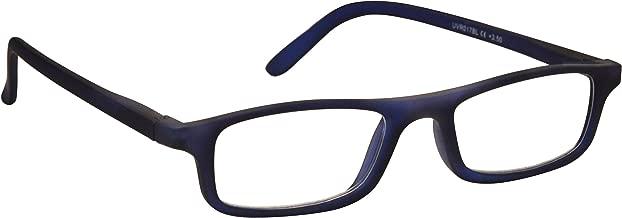 L'azienda Occhiali Da Lettura Opaco Blu Navy Leggero Lettori Stile Designer Uomo Donna Cerniere Molla R17-3 +1,50