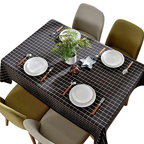 ASL Nappe Imperméable, Pique-Nique Couverture Tissu Noir et Blanc Nappe Nappe Table à Diner Petite Table Nappe Nappe Café Restaurant Nappe Nappe 90-240cm sélectionner (taille : 120 * 180(cm))
