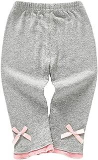 Weixinbuy Newborn Baby Girl's Comfort Cotton Stretchy Ruffled Slim Leggings Pants Trousers