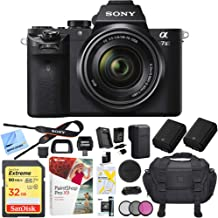Sony Alpha a7II Mirrorless Camera with 28-70mm F3.5-5.6 OSS Lens Bundle with 32GB Memory Card, Camera Bag for DSLR, Camera...