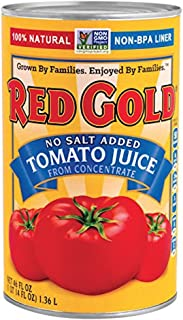 Red Gold No Salt Added Tomato Juice From Concentrate 46 oz. Can