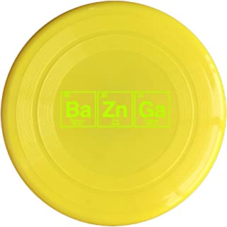 AOLM Bazinga Chemical Element Outdoor Game Frisbee Sport Disc Yellow