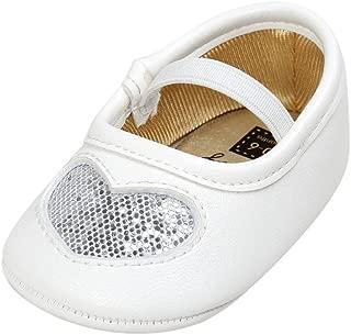 Weixinbuy Baby Girls' Heart Crib Shoes Moccasins