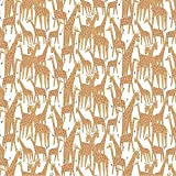 Dear Stella Born To Be Wild Giraffes White Quilt Fabric by the Yard