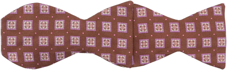 Carrot and Gibbs Men's Floral Polka Dot Button Bow Tie