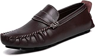 HUANGAIHUA Men's Grant Canoe Penny Loafer Slip on Moccasins Casual Shoes