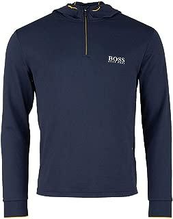 Mens Hoodie Soodytech Quarter Zip Pullover Hoodie Navy 50392757