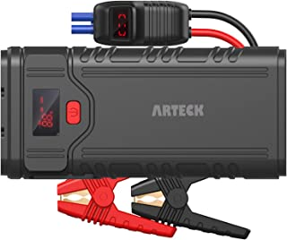 Arteck 2000A Peak Portable Car Jump Starter (Up to 9.0L Gas or 8.0L Diesel Engine) Auto 12V Battery Pack Booster and QC3.0 External Battery Charger for Automotive, Motorcycle, Boat, Smart Phone