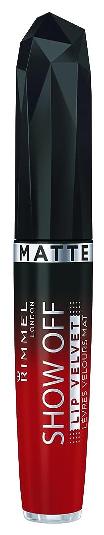 つまらない優越通常RIMMEL LONDON Show Off Matte Lip Velvet - Burning Lava (並行輸入品)