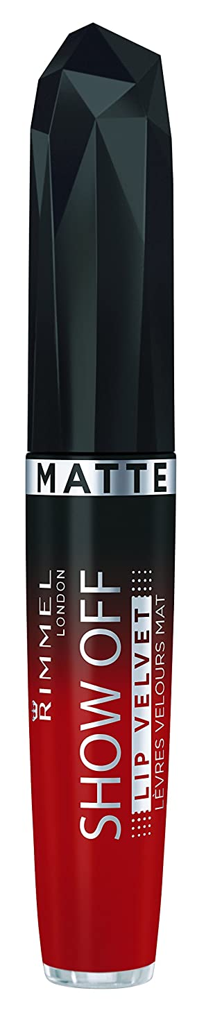 いっぱい生じる宝RIMMEL LONDON Show Off Matte Lip Velvet - Burning Lava (並行輸入品)