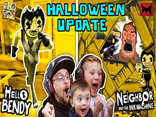 Hello Bendy Neighbor and the Ink Machine Halloween Mod, Fgteev'ers Let's Celebrate with Surprise Gameplay