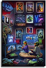 Halo Combat Evolved Cover Canvas Art Poster and Wall Art Picture Print Modern Family Bedroom Decor Posters16x24 inch framed