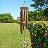 FONMY Wind Chimes Outdoor with Colorful Tree of Life Symbol Memorial Windchimes for Loved One Great Wind Chime Gifts 33 inches Copper Color Garden Home Yard Hanging Decor