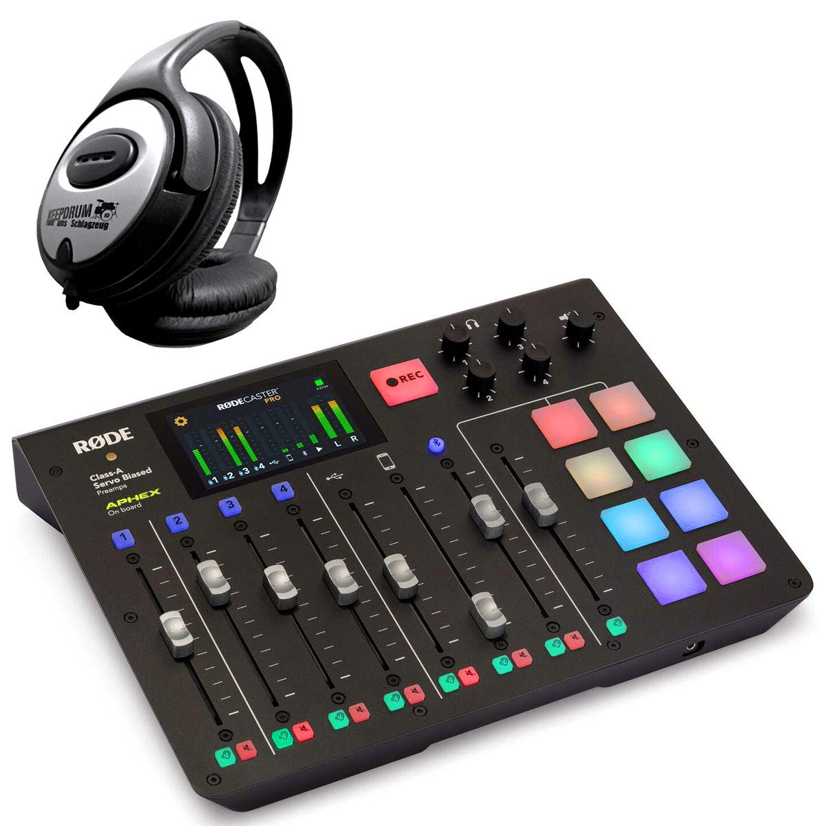 Rode RodeCaster Pro All-in-One - Estación de podcast y auriculares ...
