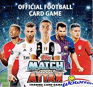 2018/2019 Topps Match Attax Champions League Soccer MASSIVE 50 Pack Factory Sealed Box with 300 Cards! Look for Top Stars including Ronaldo, Lionel Messi, Neymar Jr, Harry Kane & Many More! WOWZZER!