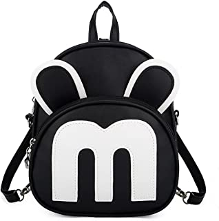 Bizanne Fashion Cute Mini Mouse Ear Backpack for Women and Fashion Backpack for Girls, College Bag for Women (BV_1279, Black)