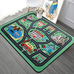 RuiHome Children Boys Girls Educational Play Rug Soft Baby Crawling Mat for Bedroom Living Room Playroom Nursery Hard Surface – 47″ x 71""