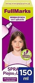 FullMarks Spray Antipiojos para Niños con Lendrera, Sin Pesticidas, Inoloro e Incoloro - Spray 150 ml