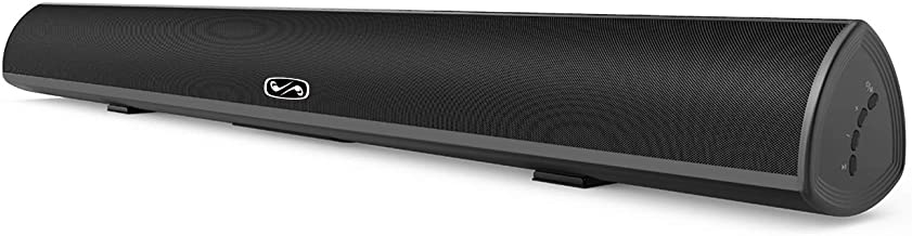 80Watt 34Inch Sound bar, Bestisan 2.0 Channel Soundbar Wireless and Wired Sound bar for TV (Surround Sound System, Bluetooth 5.0, Optical Cable Included, 2020 Model)
