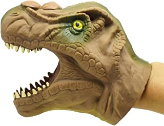 TOYMYTOY Dinosaur Hand Puppet,Soft Tyrannosaurus Role Play Toy for Kids