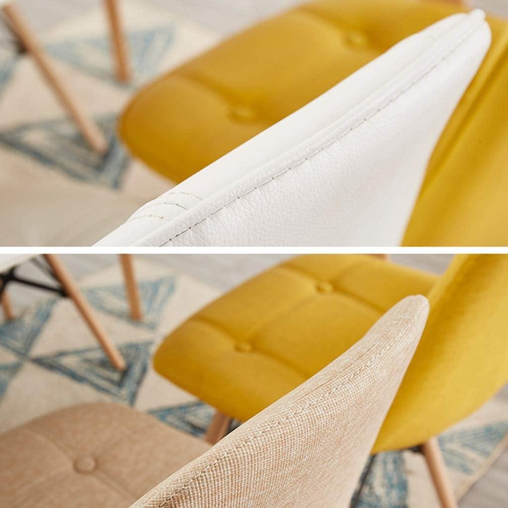 Chaise à dîner en bois bois Pieds et confortable siège rembourré Accueil Bureau Chaise design Chaise à manger (Color : Red) Brown