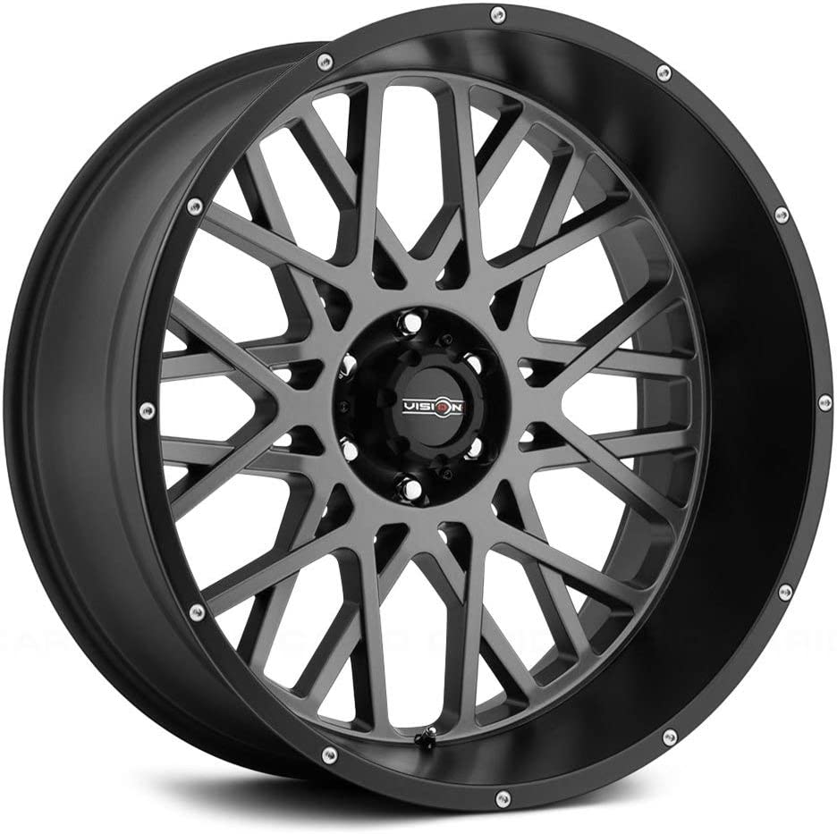 Vision Rocker 20x12 Gray Black Max 84% OFF Max 72% OFF Wheel with Of 8x180 a Rim -51mm