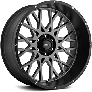 VISION OFF-ROAD ROCKER GREY Wheel with Anthracite with Satin Black Lip (0 x 12. inches /6 x 139 mm, -51 mm Offset)