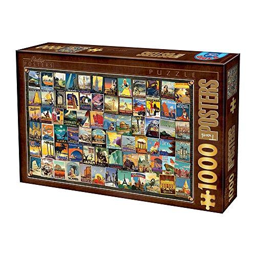 Puzzle de 1000 Piezas, diseño de Collage Vintage
