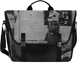 Abandoned Art - Bolso de lona para hombre, color negro y blanco