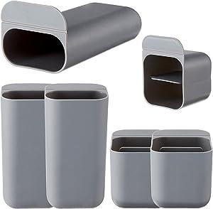 6 Pieces Paste Screen Pen Holders Desktop Pen Pencil Storage Bags Desktop Accessories Bags Desk Organizers Containers