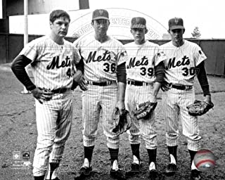 Tom Seaver, Jerry Koosman, Gary Gentry, Nolan Ryan New York Mets 1969 Photo 8x10