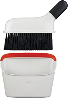 OXO Good Grips Compact Dustpan & Brush Set, Inoxidable, Red, set of 1
